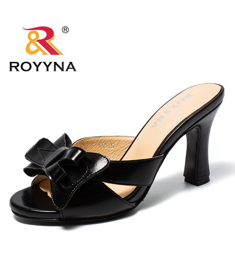ROYYNA New Classics Style Women Slippers Microfiber Feminimo Summer Shoes Butterfly-Knot Lady Sandals Light Fast Free Shipping