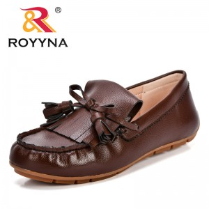 ROYYNA New Arrival Classics Style Women Casual Shoes Slip-On Feminimo Leisure Shoes Synthetic Lady Flats Comfortable Boat Shoes
