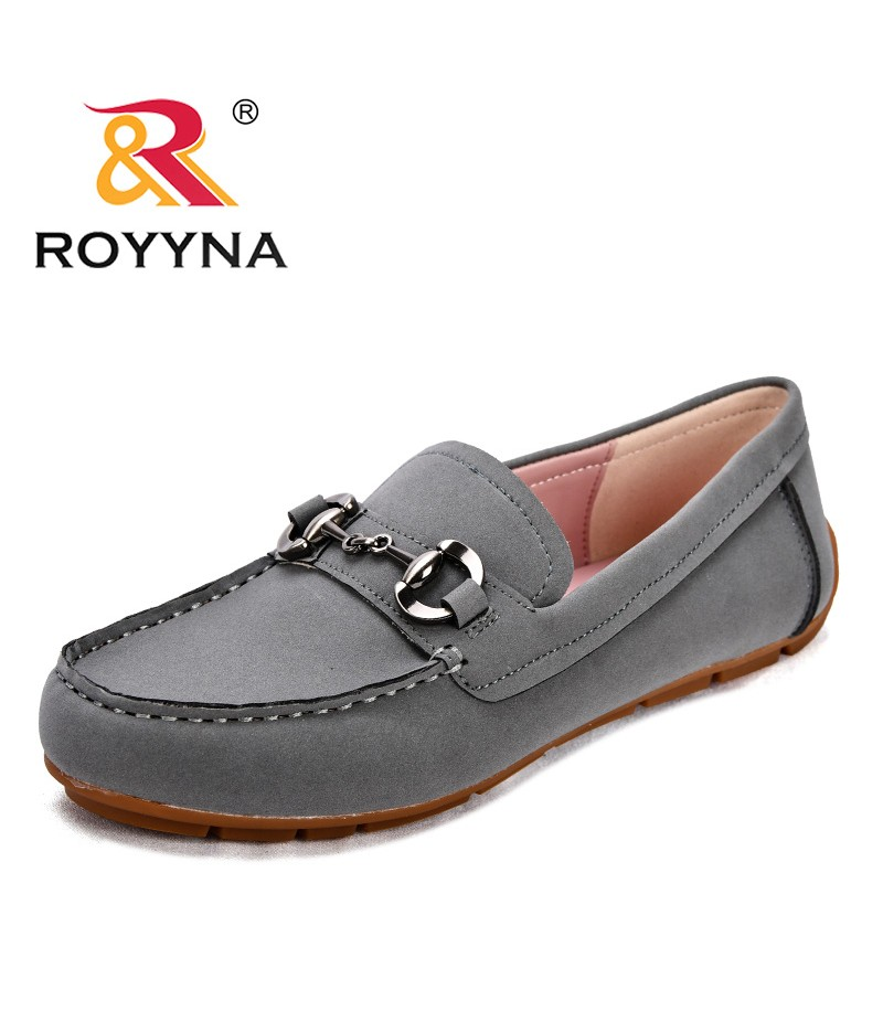 ROYYNA New Popular Style Women Boat Shoes Synthetic Female Casual Shoes Slip-On Leisure Shoes Round Toe Lady Loafers Shoes Flats