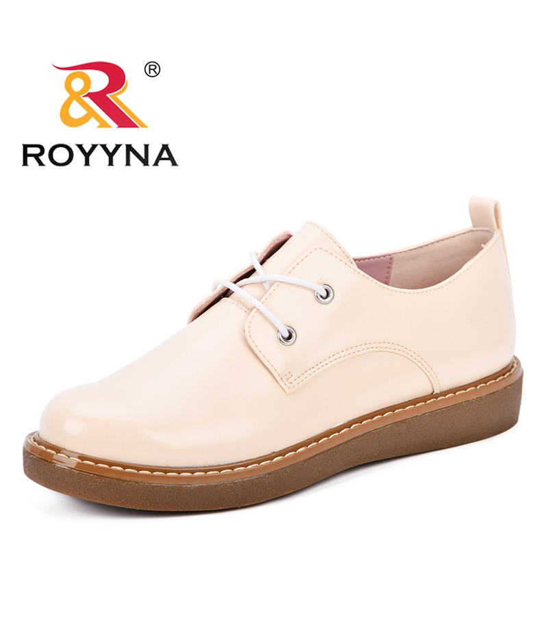 ROYYNA Women Synthetic Leather Casual Shoes Breathable Flat Round Toe Loafers for Woman Sneakers Leisure Comfortable Shoes Lady