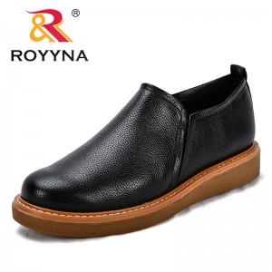 ROYYNA New Classics Style Women Casual Shoes Synthetic Slip-On Female Flats Anti Slip Outsole Lady Leisure Shoes Free Shipping