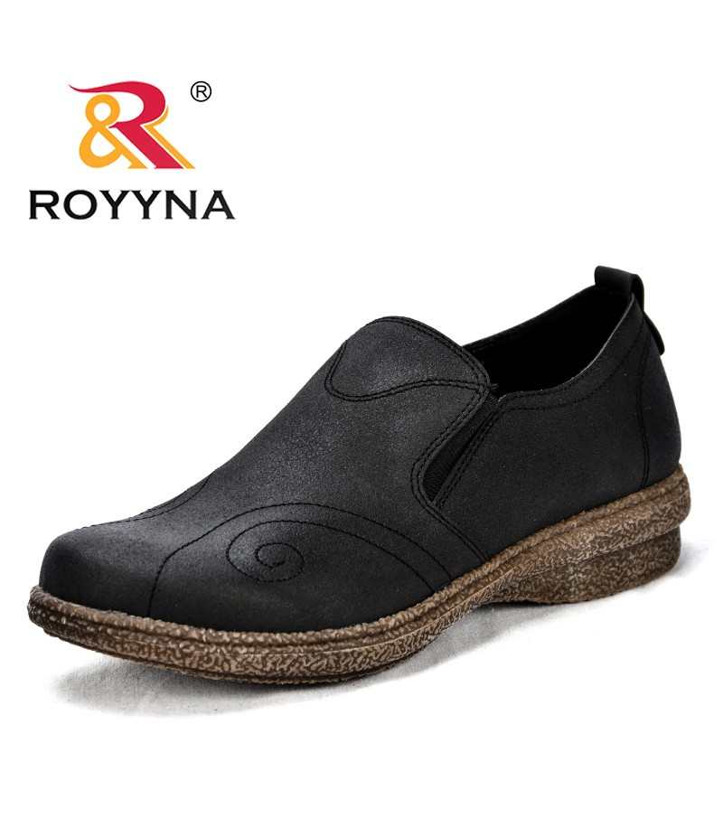 ROYYNA New Popular Style Women Casual Shoes Synthetic Slip-On Female Flats Outdoor Durable Outsole Lady Leisure Shoes Light