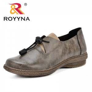 ROYYNA New Arrival Classics Style Women Sneakers Synthetic Lace Up Female Casual Shoes Outdoor Round Toe Lady Flats Comfortable