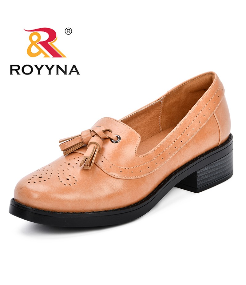ROYYNA 2019 Spring Autumn Round Toe Pumps Women Slip-On Heel Hoof Shoes Non-slip Low Heels Platform Shoe Ladies Sapato Feminino