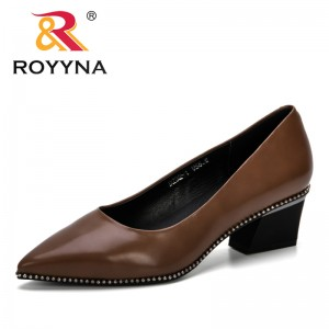 ROYYNA 2019 New Arrival Women's Pumps Microfiber Fashion Pointed Toe Comfortable Shoes Casual Handmade Pumps Lady Wedding Shoes