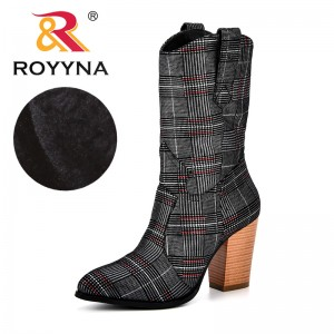 ROYYNA 2018 Hot Sale Mid-Calf Boots For Women New Classics Style Women's Fashion Boots Ladies Autumn Winter Comfortable Boots