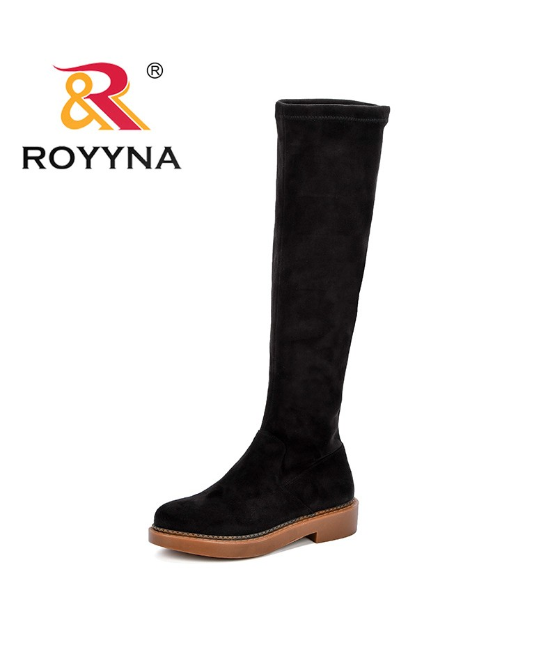 ROYYNA Over The Knee Boots Women Shoes Sexy Fashionable Women Knee High Boots Female Autumn Stiletto Ladies Shoes Feminimo Comfy