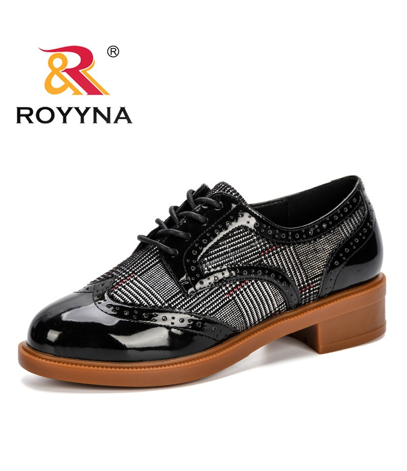 ROYYNA New 2019 Popular Style Spring Autumn Women's Pumps Microfiber Women Shoes Round Toe Hoof Heels Lady Wedding Shoes D340-2
