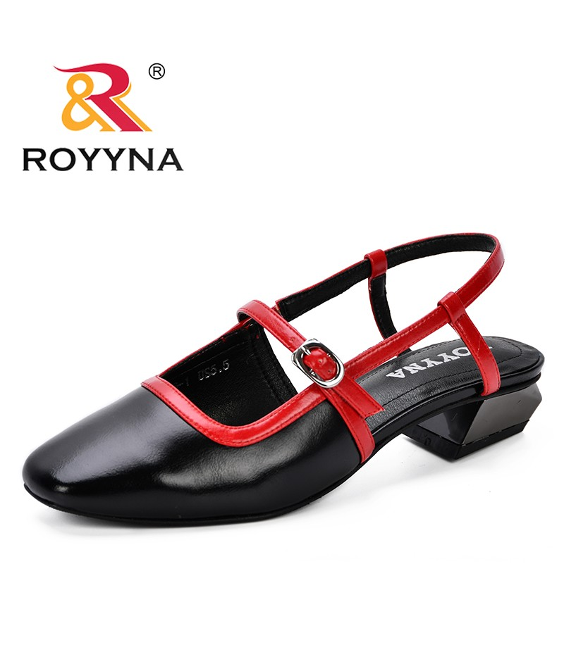 ROYYNA 2019 New Popular Shallow Strap Buckle Women Pumps Fashion High Heels Shoes Square Toe Cut-Outs Women's Sexy Party Shoes