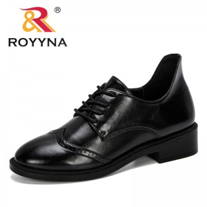 ROYYNA 2019 Popular Style Women Pumps Lace Up Shoes Women Ladies Platform Round Toe Square Heel Wedding Dress Shoes Mujer Trendy
