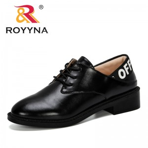 ROYYNA 2019 New Popular Style Comfortable Women Dress Shoes Lace-Up Female Pumps Low Heels Ladies Wedges Shoes Trendy Feminimo