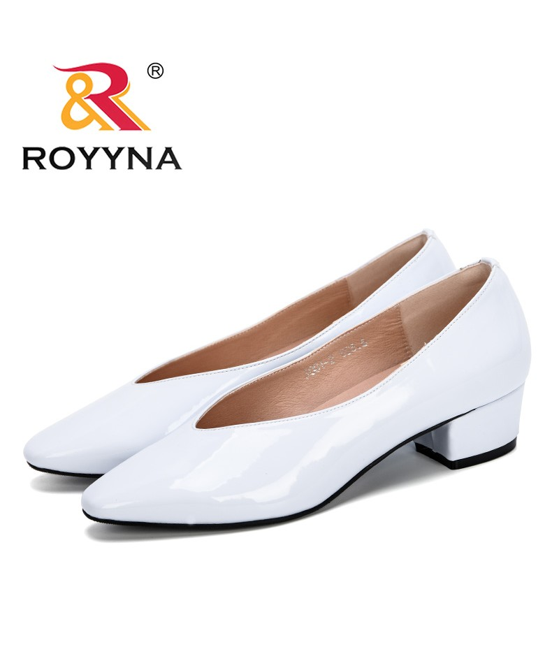 ROYYNA 2019 Female Pumps Shallow Women Shoes Fashion Office Work Wedding Party Shoes Ladies Low Heel Shoes Woman Trendy Comfy