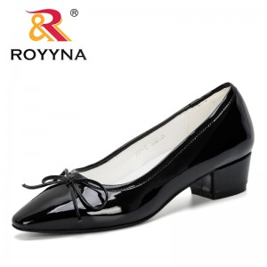 ROYYNA 2019 Women Pumps Shallow Female Shoes Fashion Office Work Wedding Party Shoes Ladies Low Heel Shoes Feminimo Dress Shoes