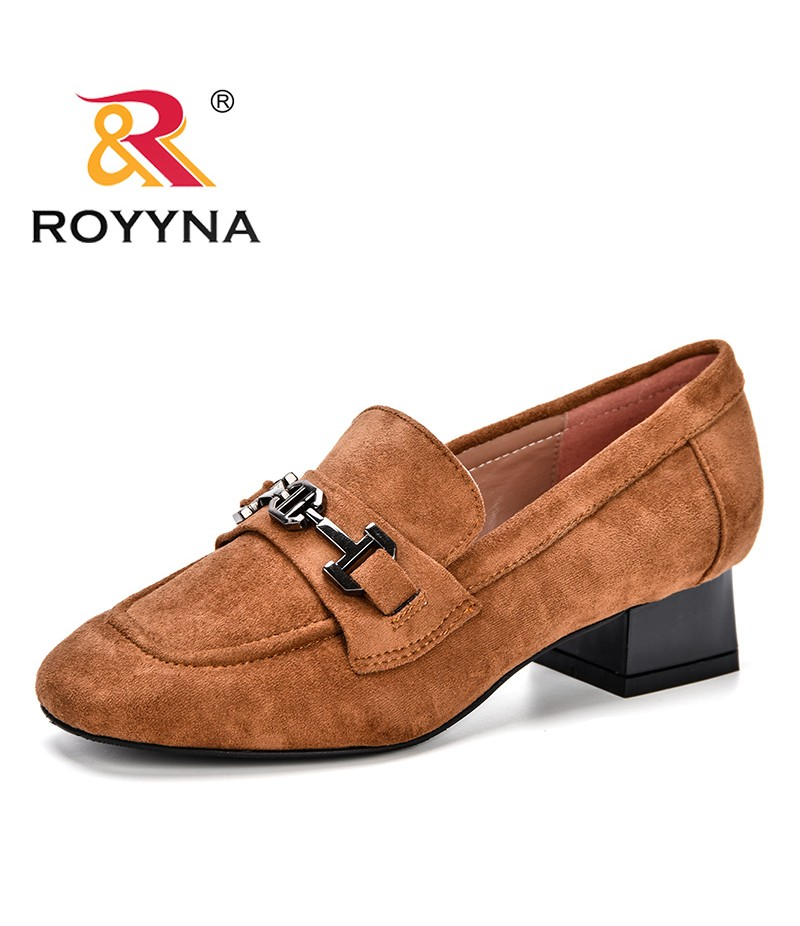 ROYYNA Big Size 35-45 Spring Autumn Women's Pumps Round Toe Women Shoes High Heels Concise and Elegant Shoes Feminimo J002-1