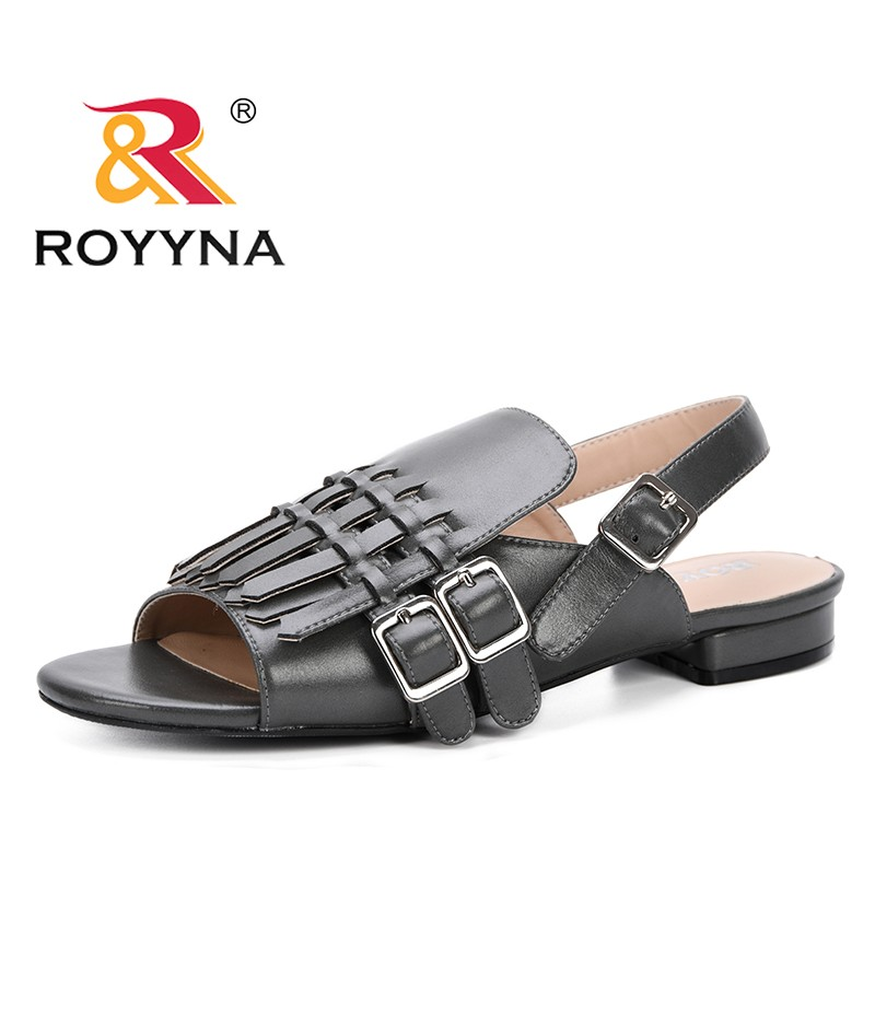 ROYYNA 2019 New Designer Popular Style Casual Shoes Women Sandals Summer Lower Heels Shoes Ladies Sandalia Outdoor Feminimo