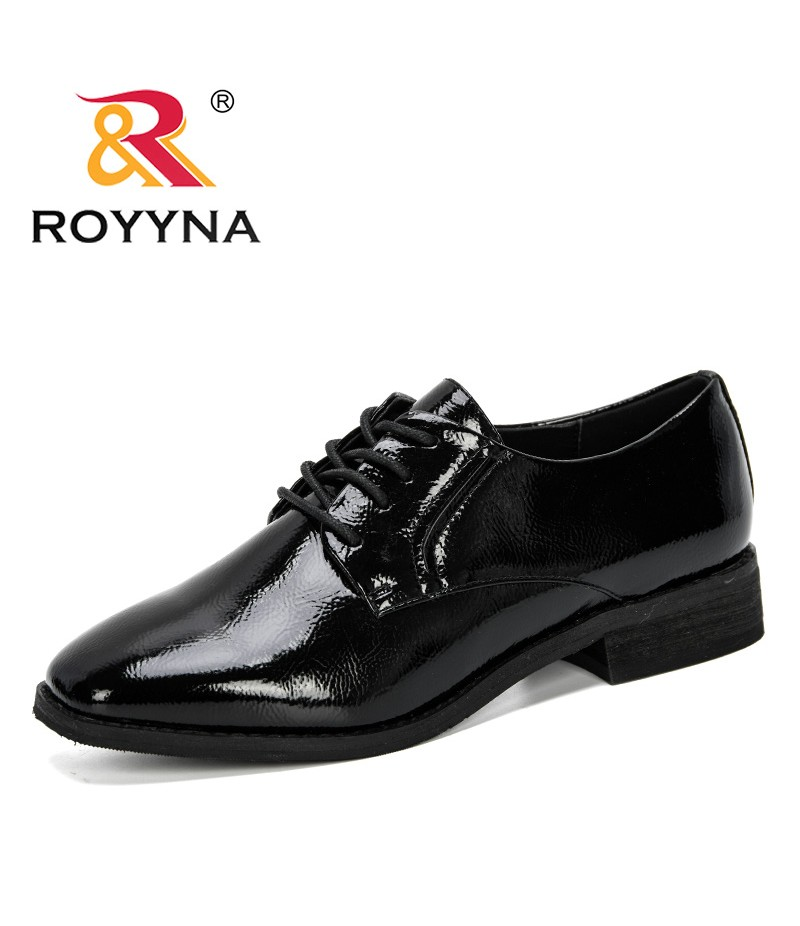 ROYYNA 2019 New Arrival Women Pumps Lace Up Square Toe Female Footwear Patent Ladies Shoes Fashion Comfortable Shoes Feminimo