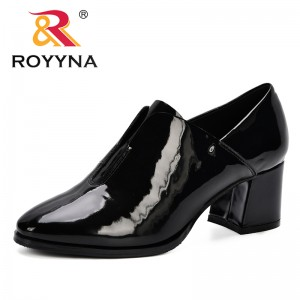 ROYYNA 2019 Women Pumps High Heels Shoes Woman Round Toe Patent Leather Female Sexy Party Shoes Office Lady Wedding Party Pumps
