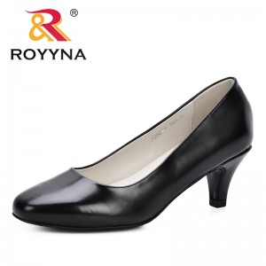 ROYYNA 2019 Spring Autumn Low Heels Shoes Women Professional Shoes Ladies Shallow Round Toe Shoes Elegant Female Office Shoes