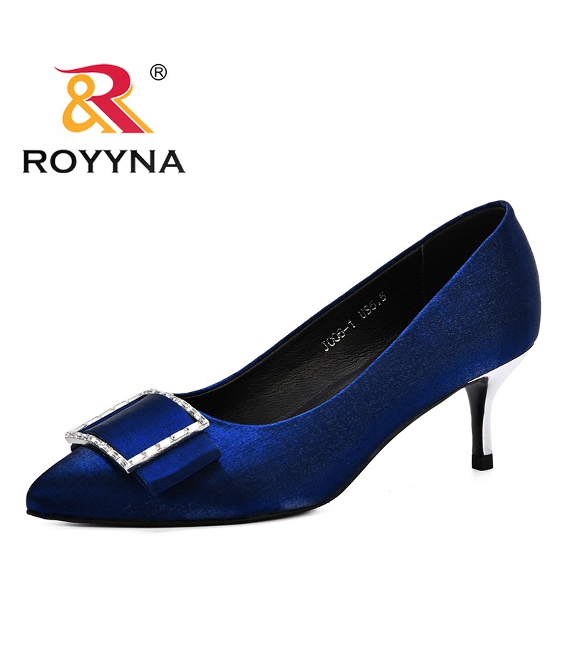ROYYNA 2019 Spring Autumn Women Shoes Pointed Toe Pumps Ladies Dress Feminimo High Heels Boat Shoes Wedding Shoes Zapatos Mujer