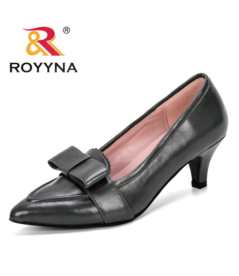 ROYYNA 2019 New Style Women Shoes Low Heels Dress Shoes Woman Basice Pumps Slip On Ladies Shoes Zapatos Mujer Pointed Toe Trendy