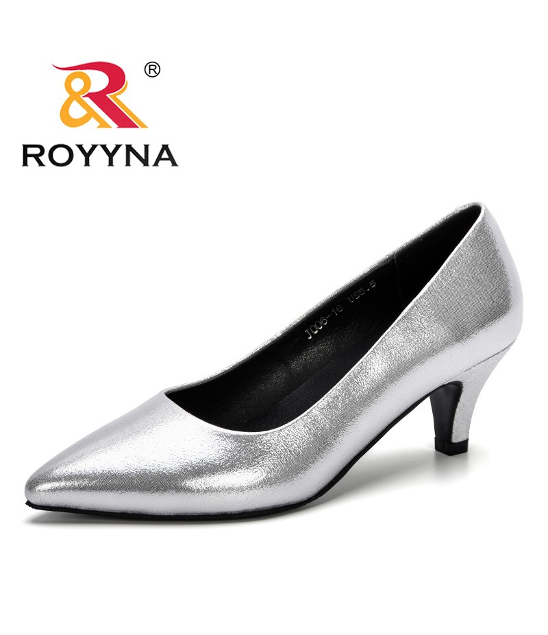ROYYNA 2019 New Arrival Women Pumps Pointed Toe Work Pump Woman Shoes Weeding Shoes Office Career Elegant Pumps Comfortable