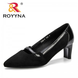 ROYYNA 2019 Spring Shallow Fashion Women's High Heels Shoes Mixed Colors Pointed Toe Women Pumps Show Trendy Female Office Shoe