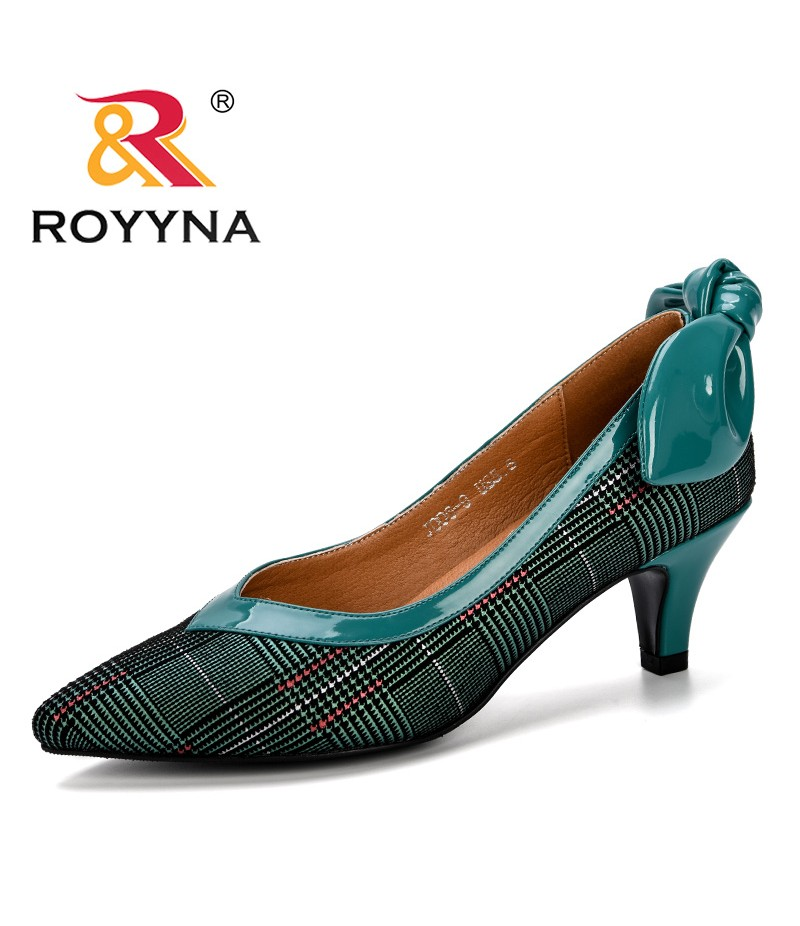 ROYYNA 2019 Spring Autumn Women Shoes High Heels Woman Pumps Mixed Color Ladies Office Shoes Pointed Toe Summer Heels Feminimo