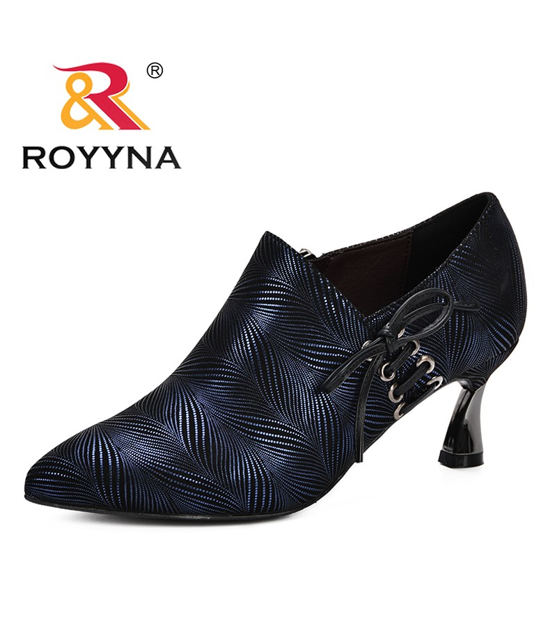 ROYYNA 2019 Spring Autumn Woman Strange Heel Pumps Fashion Shoes Shallow Shoes With High Heel Pointed Shoes Comfortable Trendy