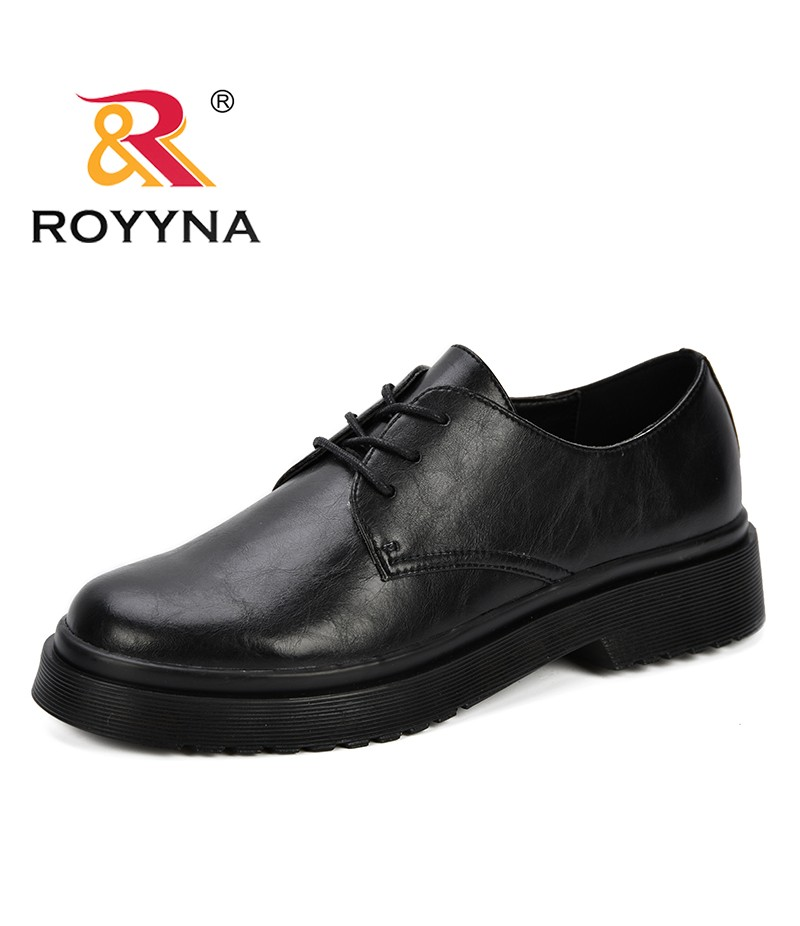 ROYYNA 2019 Classic Oxford Casual Shoes Woman Pumps Women Heels Low Dress Party Office Korean Ladies Femme Platform Middle Shoes
