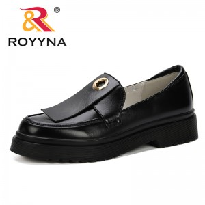 ROYYNA 2019 Spring New Designer British Women's Shoes Autumn Retro Thick Soles Single Shoes Low Heels Style Colleges Pumps Lady