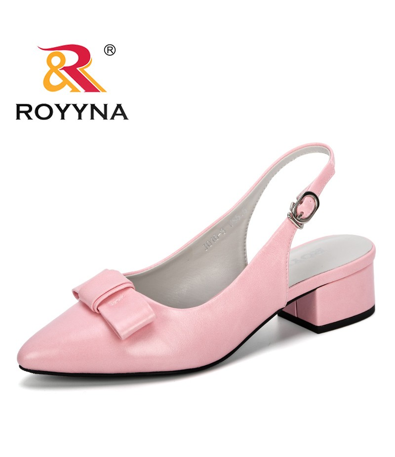 ROYYNA 2019 New Fashion Low Heels Sandals For Summer Shoes Woman Casual Pointed Toe Zapatos Mujer Plus Size 43 Sandale Feminimo