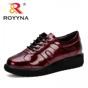 ROYYNA Luxury Designer Shoes Women Pumps 2019 New Flat Heels Work Leather Shoes High Quality Woman Shoes Trendy Zapatos mujer