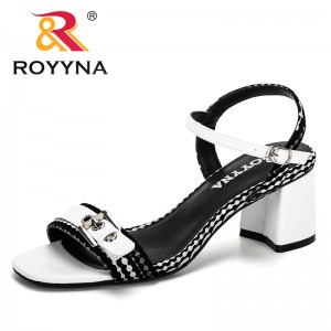 ROYYNA 2019 New Buckle Design Roman Sandals Women High Heels Shoes Summer Beach Ladies Shoes Sandalias Mujer Trendy Lady Sandals