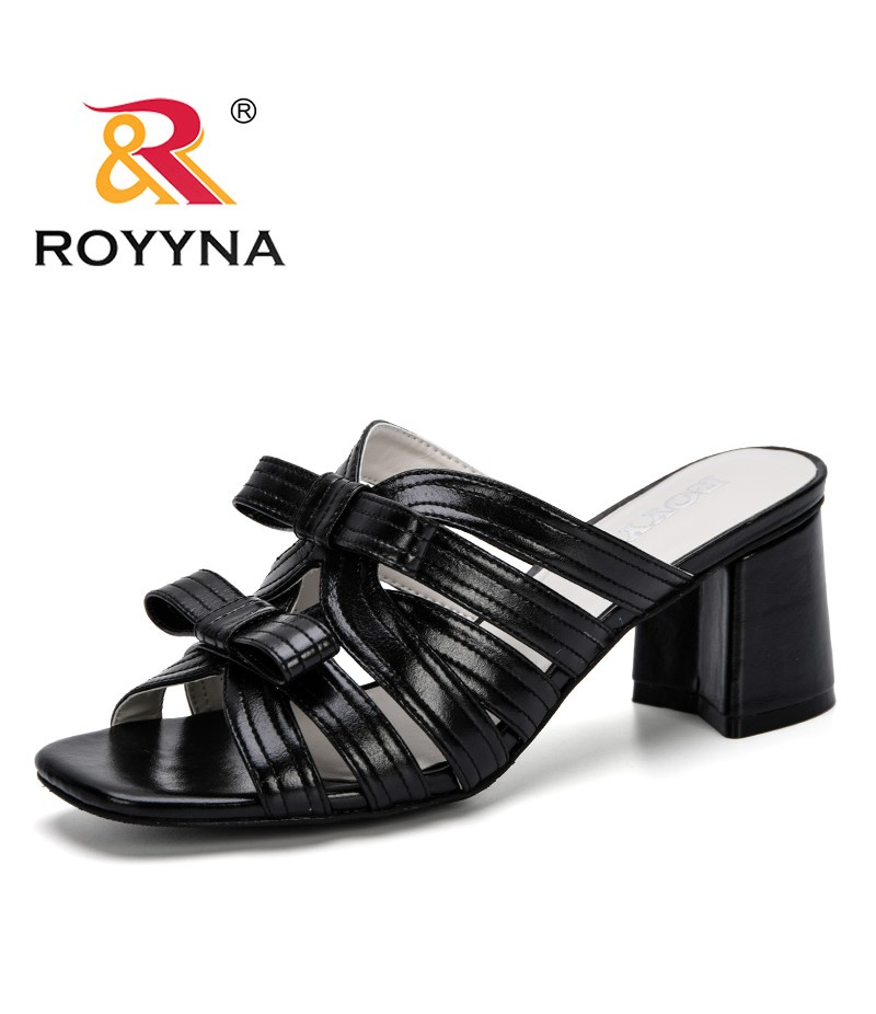 ROYYNA 2019 New Popular Flip Flop Sandals For Women Summer Shoes Elegant High Heel Fashion Outdoor Slides Women Slipper Trendy