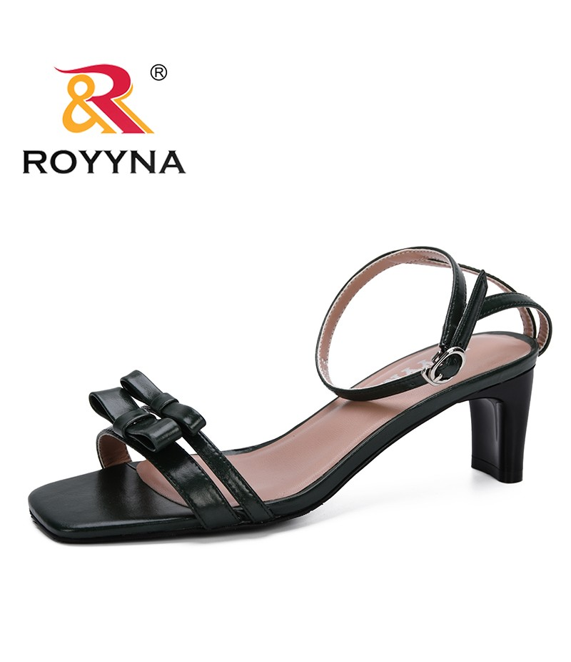ROYYNA 2019 New Fashion Women Sandals Spring Summer Shoes Women Open Toe High Heels Party Dress Sandals Feminimo Comfortable