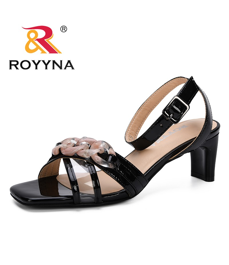 ROYYNA 2019 New Style Sandalias Mujer 2019 Woman Basic Sandal High Heels Summer Shoes Chaussures Femme Zapatos Mujer Comfortable