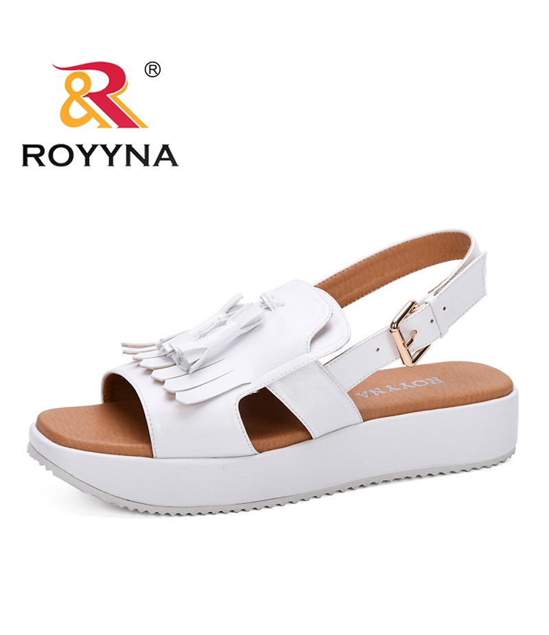 ROYYNA 2019 New Designers Wedges Shoes Women Sandals Flat Heels Summer Shoes Femme Platform Sandals Outdoor Fringe Ladies Shoes
