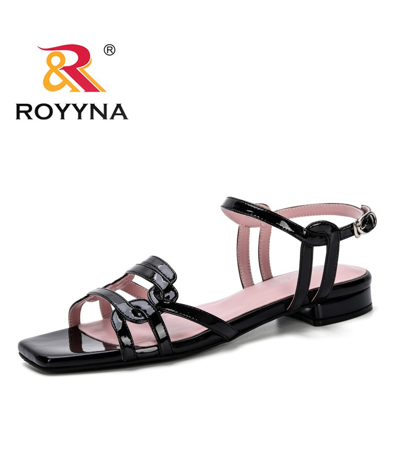 ROYYNA 2019 Women Sandals Fashion Gladiator Sandals Summer Shoes Female Flat Sandals Rome Style Trendy Comfortable Sandals Shoes