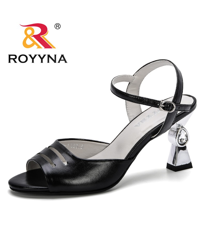 ROYYNA 2019 New Style Sandals Women Summer Shoes Open Toe High Heels Gladiator Sandals Remale Pumps Sandalia Feminina Trendy