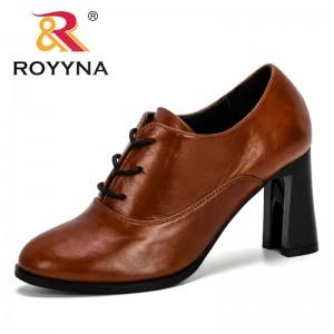 ROYYNA 2019 New Designer High Heels Women Pumps Round Toe Dress Footwear Ladies Shoes Fashion Wedding Shoes Woman Comfortable