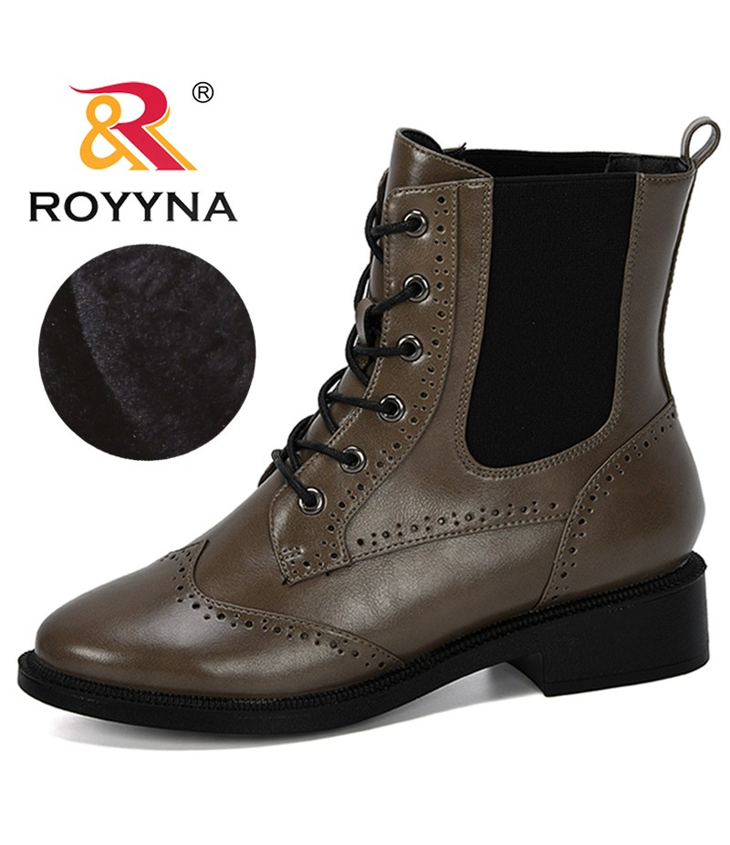 ROYYNA 2019 New Designer Popular Ankle Boots For Women Heels Elastic Band Casual Female Shoes Microfiber Boots Botas Mujer Comfy