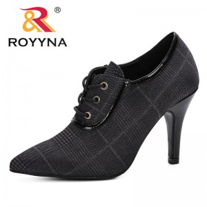 ROYYNA High thin heels Shoes Women Pumps Wedding Trendy Shoes Classic Style Pointed Toe Evening Party Shoes Female Comfortable