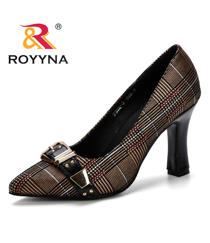 ROYYNA Women Pumps 2019 Spring & Autumn Plus Size 34-43 Fashion Elegant Pointed Toe Office Ladies High Heels Woman Trendy Shoes