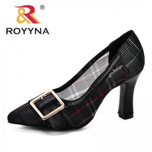 ROYYNA High Heels Bling Metal Pointed Toe Female Party Wedding Pumps Elegant Gauze Shoes For Ladies Fashion Footwear Feminimo
