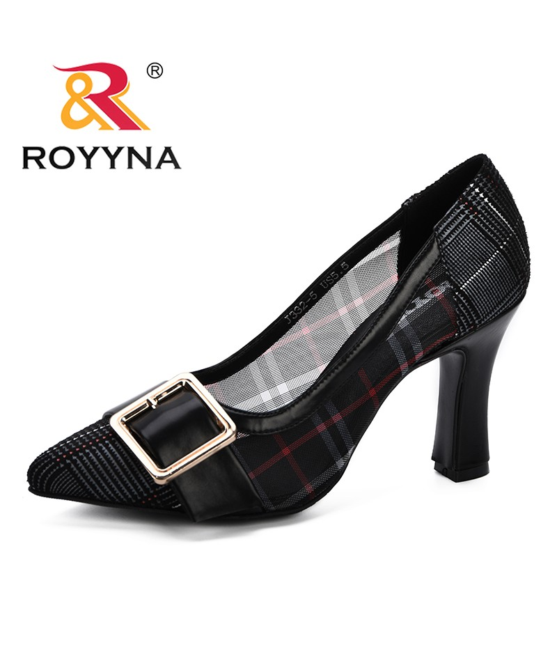 ROYYNA High Heels Bling Metal Pointed Toe Female Party Wedding Pumps Elegant Gauze Shoes For Ladies Fashion Footwear Feminimo