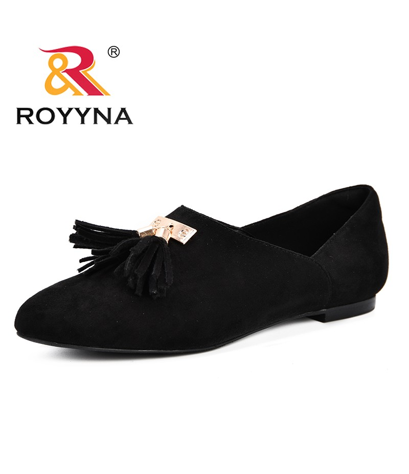 ROYYNA 2019 Spring Women Pumps Low Heels Round Toe Flock Office Shoes Ladies Slip On Casual Footwear For Female Fashion Shoes