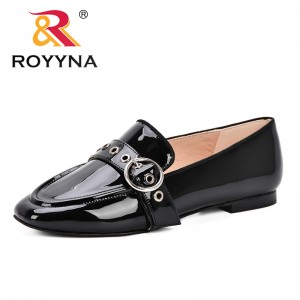ROYYNA 2019 Spring Autumn Office Women Shoes Low Heel Trendy Dress Shoes Patent Leather Shoes Woman Boat Shoes Zapatos Mujer