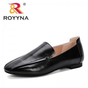 ROYYNA Women Retro Square Toe Slip On Pumps Women Square Heels Shoes 2019 Fashion Women Lower Heels Shoes Comfortable J342-4