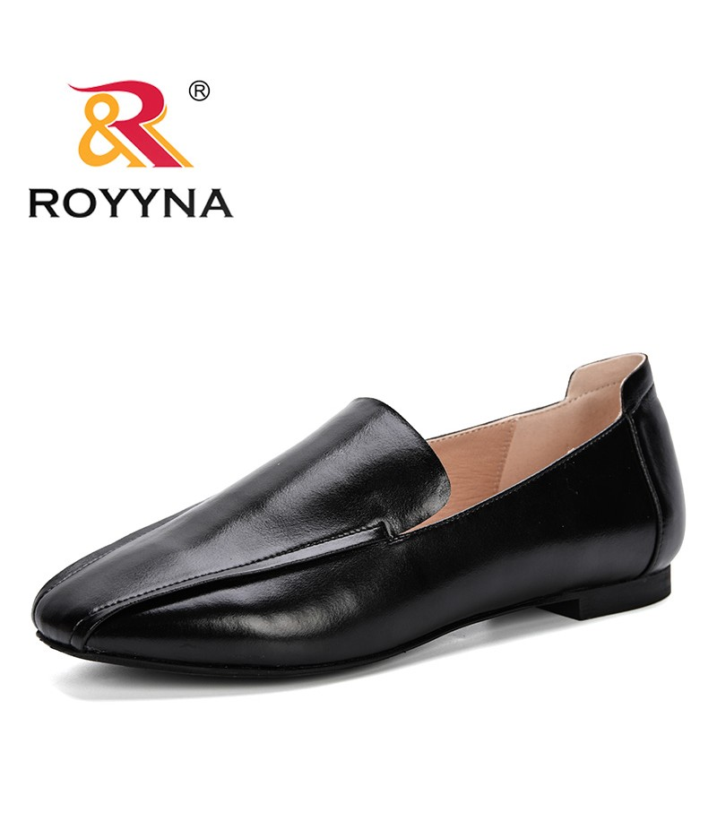 ROYYNA Women Retro Square Toe Slip On Pumps Women Square Heels Shoes 2019 Fashion Women Lower Heels Shoes Comfortable J342-4