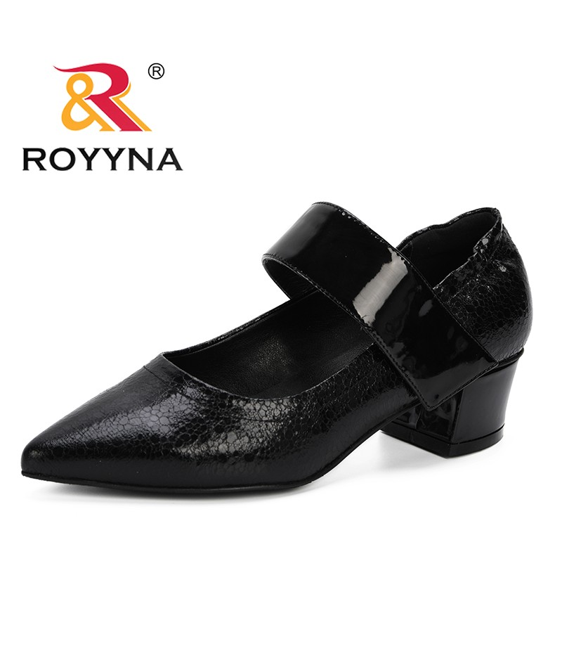 ROYYNA 2019 Spring Autumn High Heels Shoes Women Pumps Single Woman Dress Shoes Thick Heels Pointed Toe Trendy Female Pumps